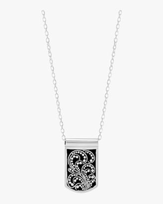 Lois Hill Reversible Signature Scroll Dog Tag Necklace