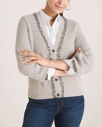 Chico's Studded-Front Cardigan Sweater