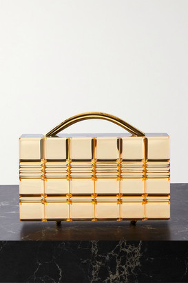 L'Afshar Grace Mirrored-acrylic Tote - Gold