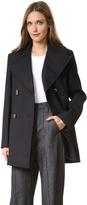 Nina Ricci Pea Coat with Dove Buttons