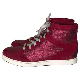 Jimmy Choo Red Suede Trainers