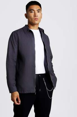 boohoo Cotton Zip Through Overshirt