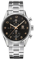 Tag Heuer Carrera Fine-Brushed and Polished Steel Bracelet Watch, CAR2014BA0796