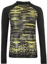 Slazenger Womens NY Graphic Long Sleeve T Shirt Performance Top Mesh Insulated