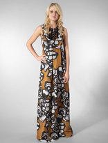 Shevon Desert Rose Long Dress in Suede