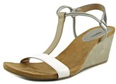 Style&Co. Style & Co Mulan Women Open Toe Synthetic Silver Wedge Sandal.