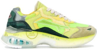 Premiata Sharky panelled low-top sneakers