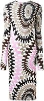 Emilio Pucci longsleeved printed dress - women - Silk/Viscose - 40