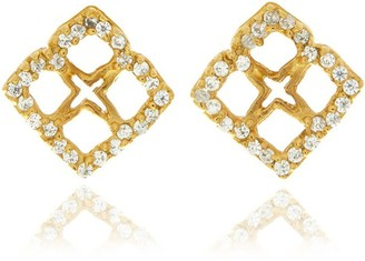 Georgina Jewelry Gold Signature Mini Flower Diamond Earrings