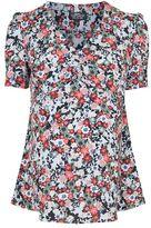 Topshop Maternity sky flower tea blouse