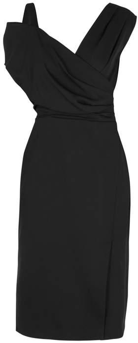 Altuzarra Madon Black Draped Dress