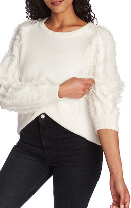 1 STATE Fringe Sleeve Sweater