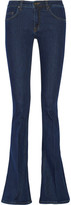 Victoria Beckham Denim - Mid-rise Flared Jeans - Dark denim