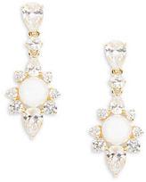 Nadri Faux Pearl and Crystal Drop Earrings