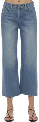 L'Agence Daninca Cropped Wide Leg Jeans