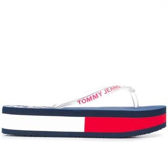 Tommy Hilfiger Colour-Block Flatform Flip-Flopes