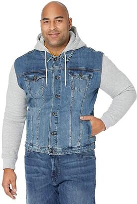 Johnny Bigg Big Tall Taylor Fleece Denim Jacket (Sky) Men's Coat
