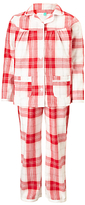 John Lewis Children's Christmas Tartan Woven Pyjamas, Red