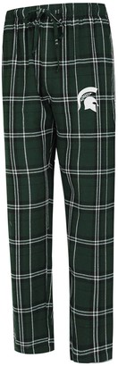 Men's Concepts Sport Green Michigan State Spartans Big & Tall Hillstone Flannel Pants