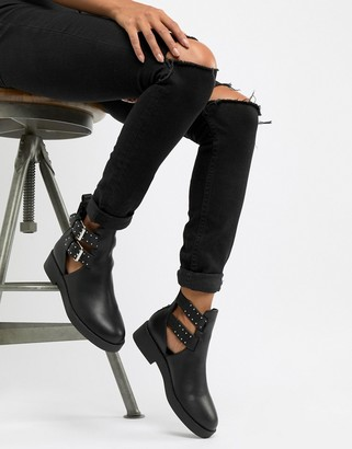 ASOS DESIGN Ark chunky cut out boots