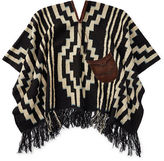 Ralph Lauren RRL Leather-Trim Wool Poncho
