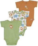Lamaze 3-pk. safari bodysuits - baby