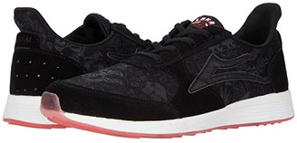 Lakai Evo (Black Suede Print) Men's Skate Shoes