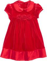 Bonnie Baby Velvet Empire-Waist Dress, Baby Girls