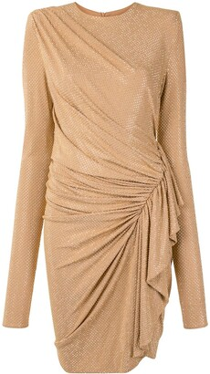 Alexandre Vauthier Stud-Embellished Wrap Dress
