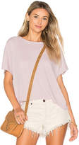 Enza Costa Crop Crew Tee in Lavender. - size 0 / XS (also in 1 / S,2 / M)