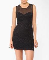 Mesh Yoke Lace Dress