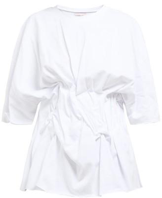 Natasha Zinko Gathered-front Cotton T-shirt - White