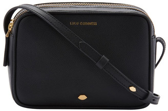 Lulu Guinness Black Cole Zip Top Crossbody Bag