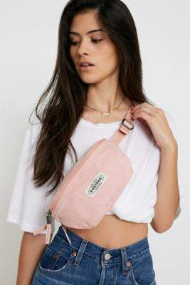 Eastpak Springer Pink Corduroy Bum Bag - pink at Urban Outfitters