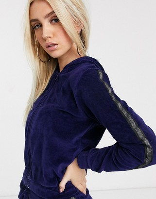 Parisian lounge suit hoody with taping detail