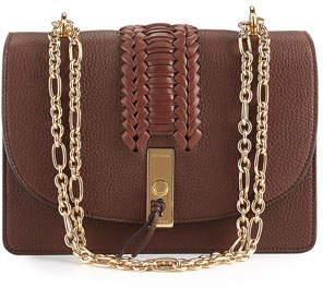 Altuzarra Ghianda Braided Leather Chain Shoulder Bag, Brown