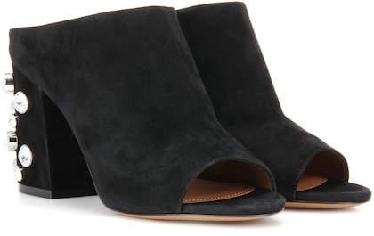 Givenchy Paris 9 suede open-toe mules