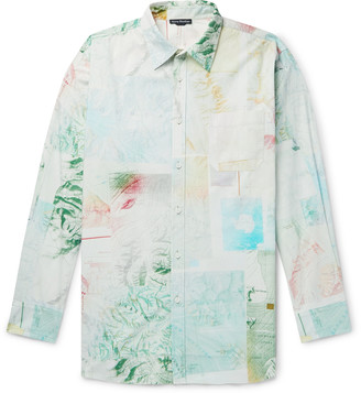 Acne Studios Oversized Printed Cotton-Poplin Shirt