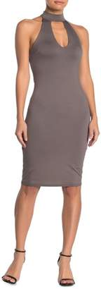 Dee Elly Cutout Mock Neck Bodycon Dress