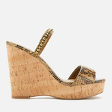 Kurt Geiger London Women's Alexia Leather Wedged Sandals - Tan Comb