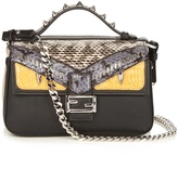 Fendi Double Micro Baguette leather cross-body bag