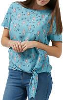 Sugarhill Boutique Zia Mermaid Tie Top, Dusky Blue