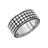 Ted Lapidus Men's Stainless Steel Ring - 8.5