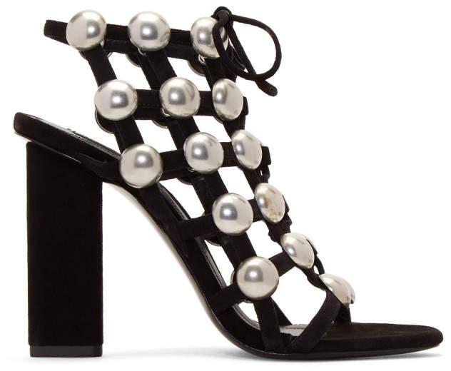 Alexander Wang Black Rubie Lace-Up Sandals