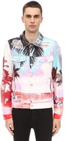 Balmain Printed Cotton Denim Jacket