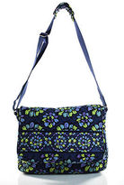 Vera Bradley Blue Cotton Indigo Pop Single Strap Quilted Messenger Handbag