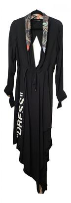 Off-White Black Polyester Dresses