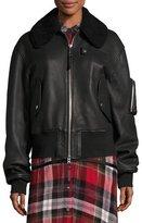 Public School Guila Leather Moto Jacket w/ Shearling Fur