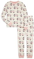 PJ Salvage Girls' Hippie Van Thermal Ski Pajamas - Sizes 2-4T