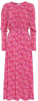 Rotate by Birger Christensen Floral stretch-jersey midi dress
